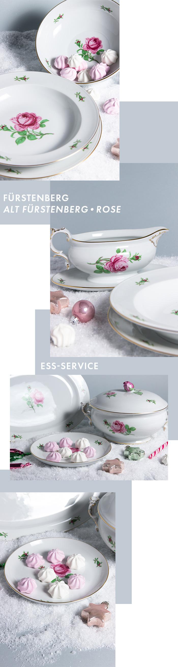 Exklusives Service - Ess-Service - Alt Fürstenberg - Rose