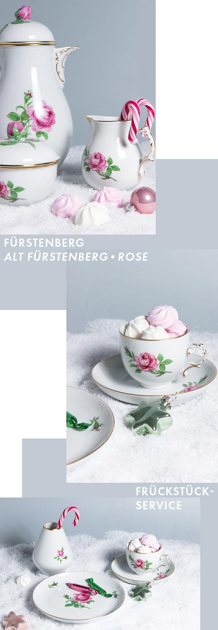 Exklusives Service - Frühstücks-Service - Alt Fürstenberg - Rose