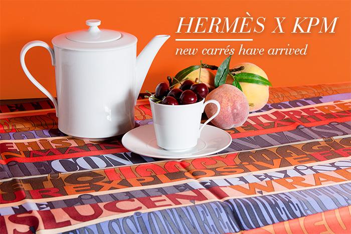 Hermès x KPM Seidentücher, Carrés - Second Hand