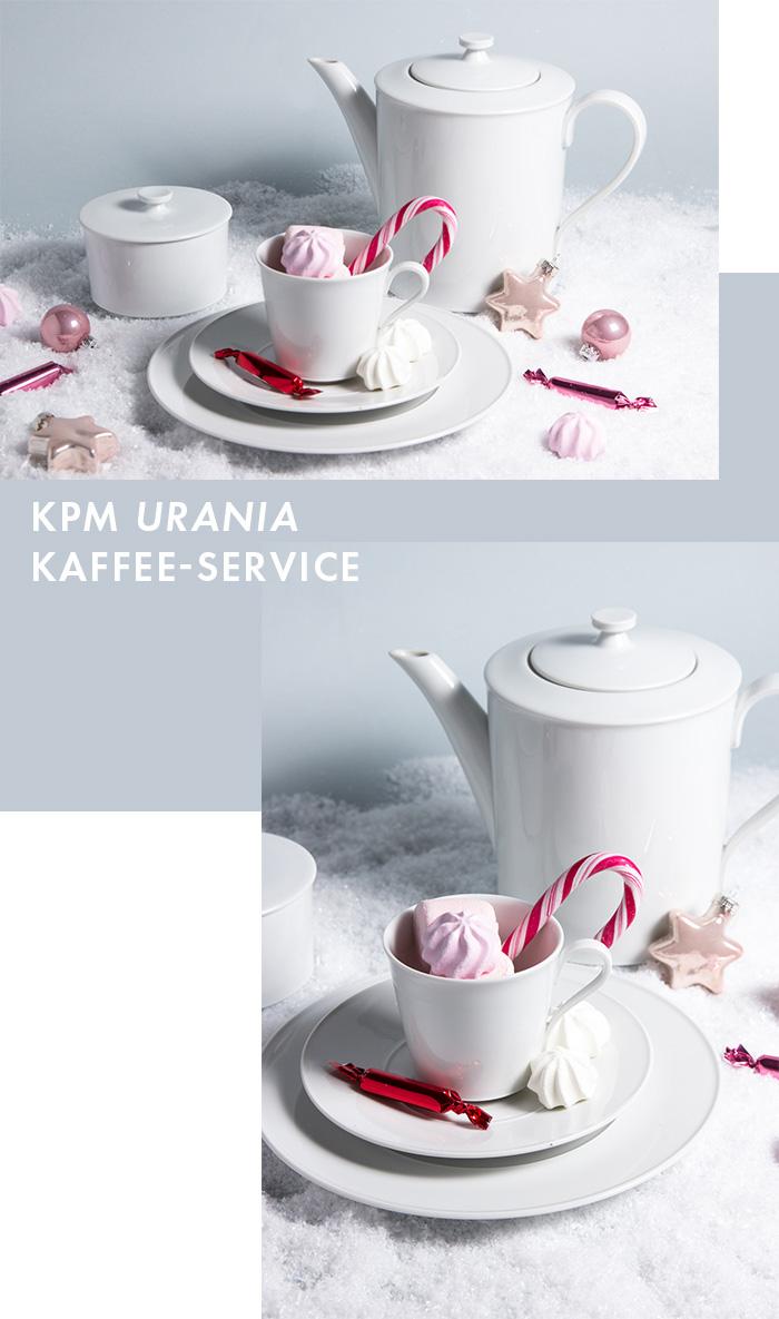 Exklusives Service - KPM Urania Kaffee-Service