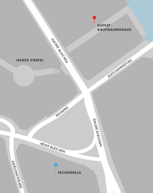 SECONDELLA Lagerverkauf im Kaufmannshaus - Lageplan