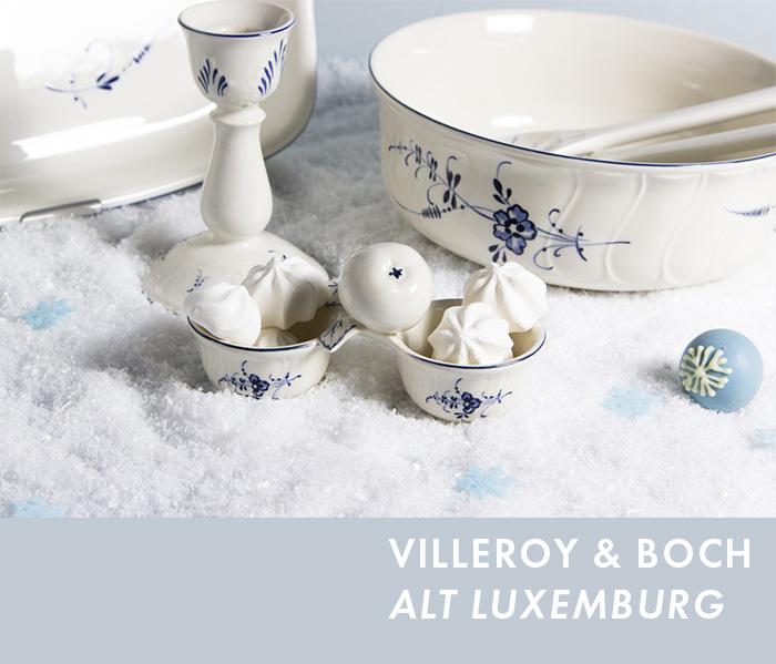 Exklusives Service - Villeroy & Boch Alt Luxemburg Senfschälchen, Salatbesteck, Auflaufform