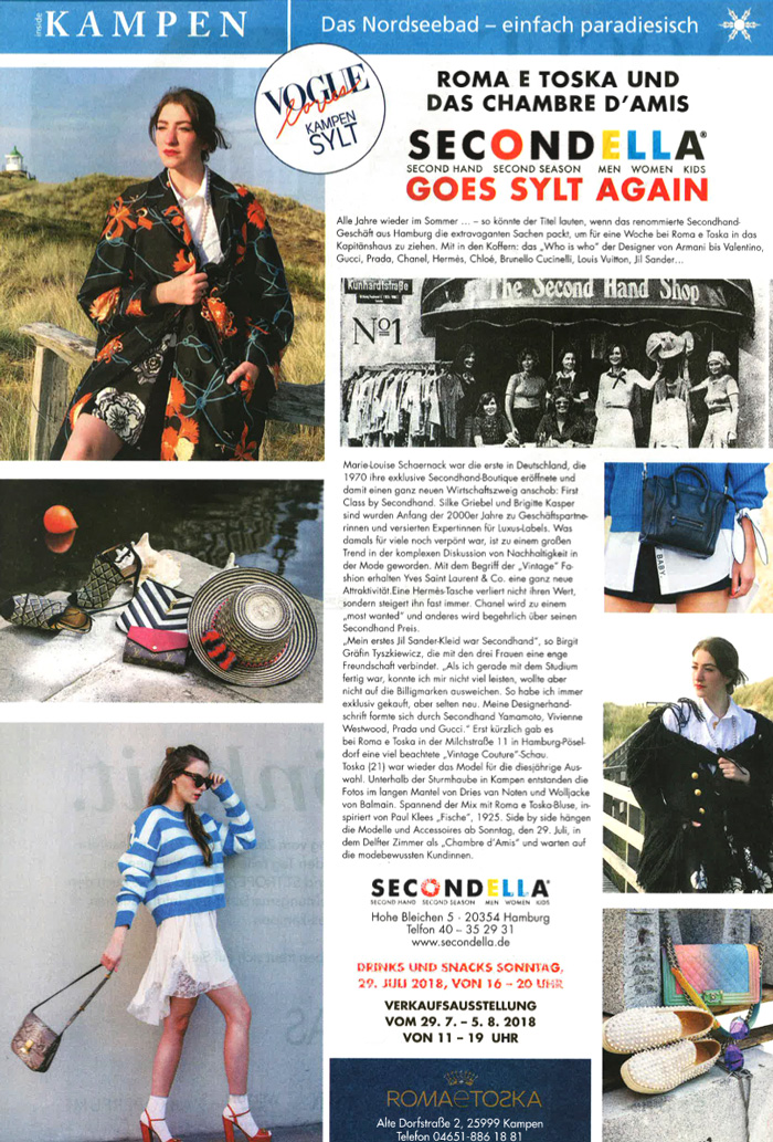 Secondella Sylt Pop-Up-Store Sylt Life 2018