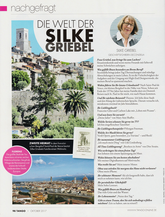 Tango - Silke Griebel - Secondella - Oktober 2017