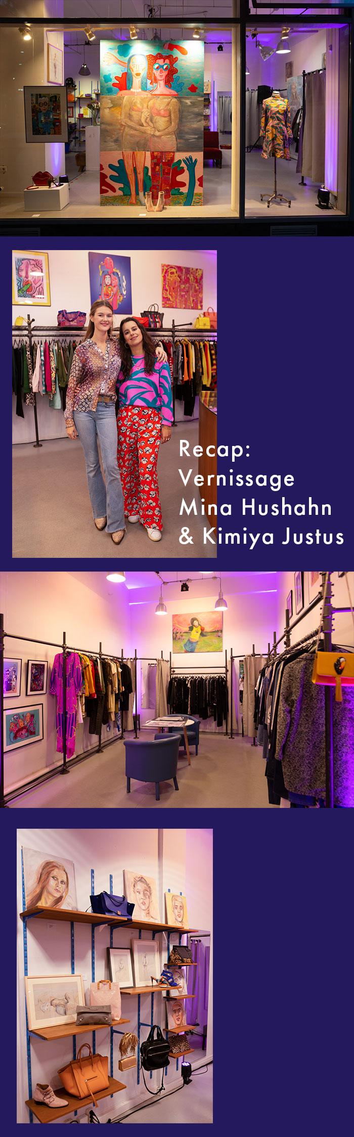 Recap: Vernissage Mina Hushahn & Kimiya Justus x SECONDELLA