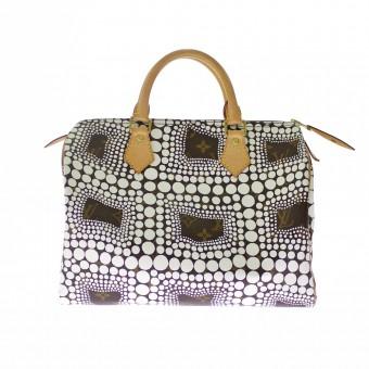 Louis Vuitton x Yayoi Kusama Speedy Gr.30 weiße Polka Dots