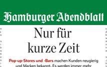 Pop-Up-Stores - Hamburger Abendblatt - August 2016