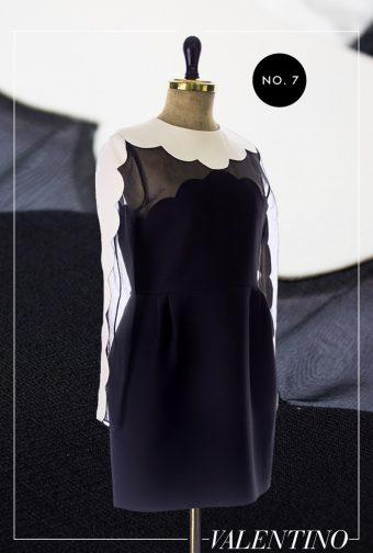 Valentino Kleid mit Muschel-Saum Applikation